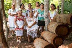 abejas y mujeres mayas